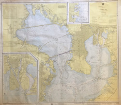 Vintage 1976 nautical chart