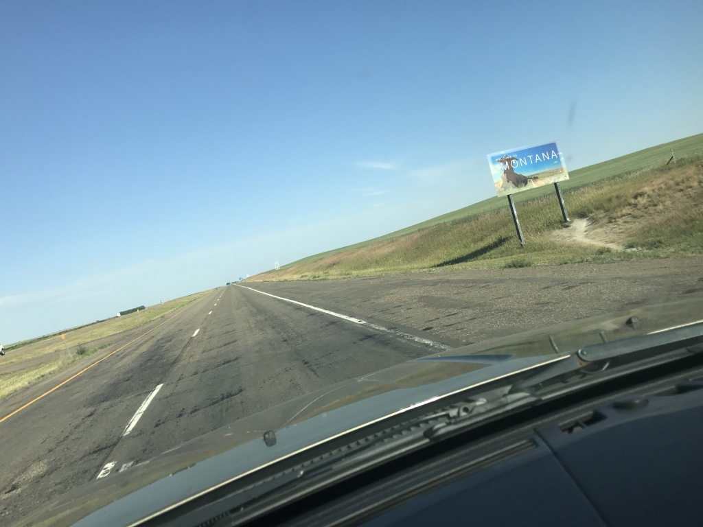 Montana, 80 mph, 102 degrees