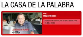 Entrevista en el programa de Roge Blasco La casa de la palabra, de Radio Euskadi, al fotógrafo humanitario Joseba Etxebarria sobre su vuelta al mundo en bicicleta.