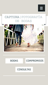 Eventos website templates – Fotógrafo de bodas