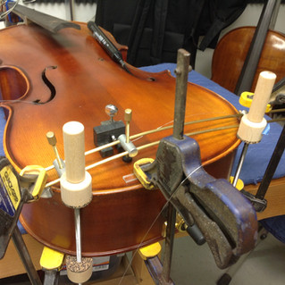 repairing a crack in cello top plate