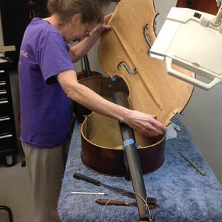 refitting a cello top plate