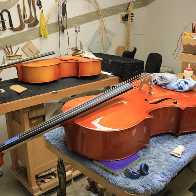 cellos needing bridge and fingerboard adjustments