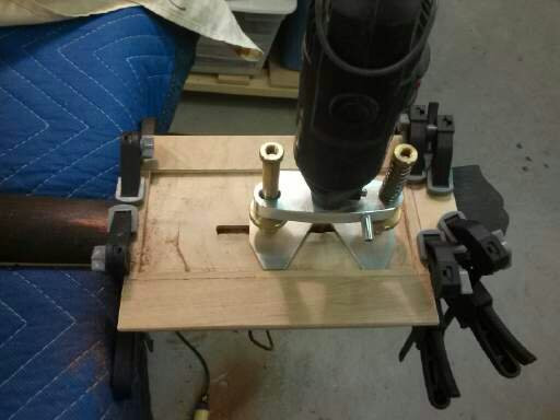 routing mortises in neck for reinforcement splines