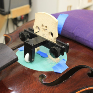 fitting a violin bridge to the top plate