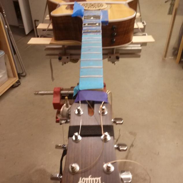 Acoustc guitar needing fretwork