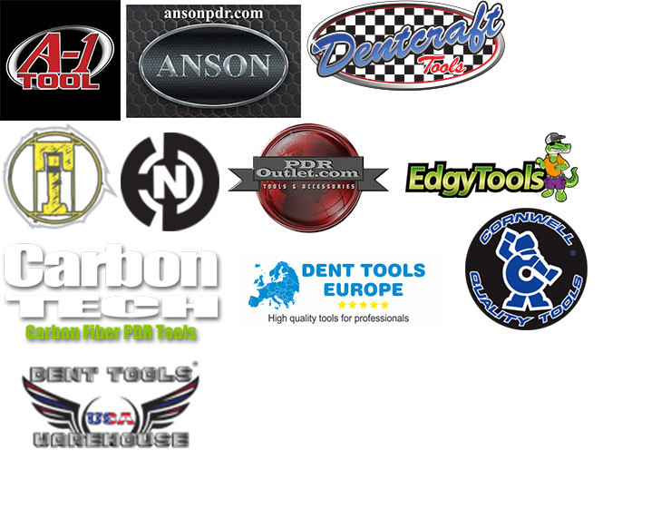 A-1 Tools, Anson, Dentcraft, PDR Outlet, Edgy Tools, Carbon Tech Inventure, TBN