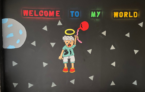 """Welcome To My World Mural"""