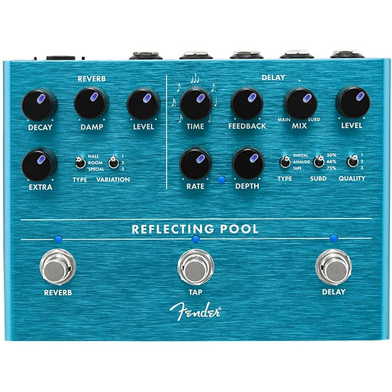 Fender Reflecting Pool Reverb and & Delay Pedal