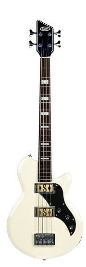SUPRO HUNTINGTON 2 BASS GUITAR - ANTIQUE WHITE