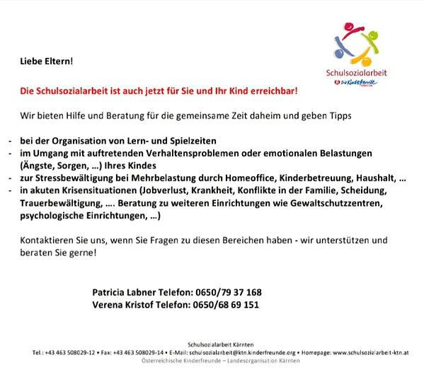 Information für Eltern Patricia & Verena