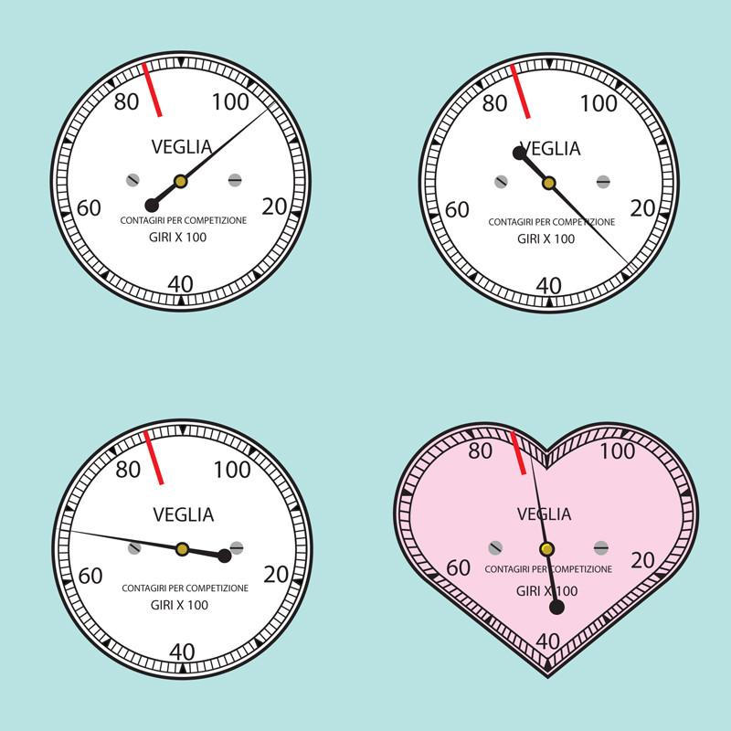 Veglia tachometer fabric print