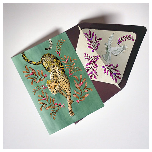 Versacheetah holiday card