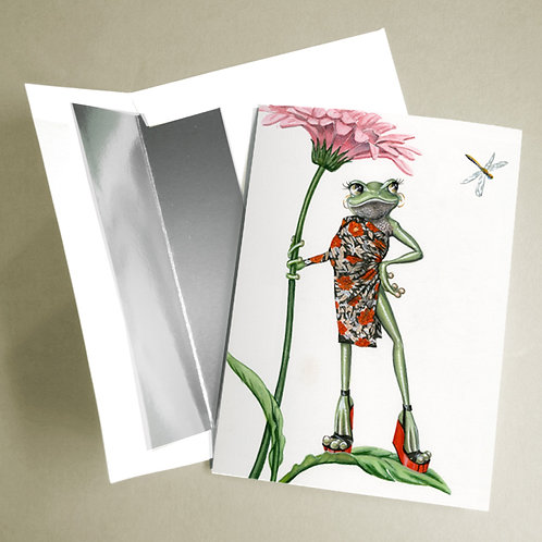 Diane Von Frogstenberg notecard