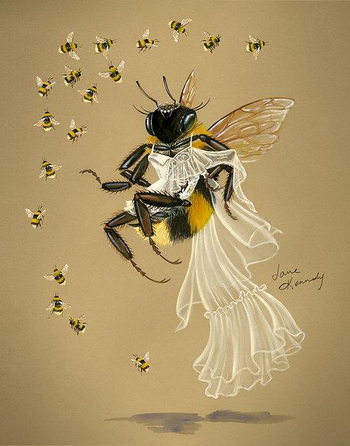 Alexander McQueen Bee giclée print