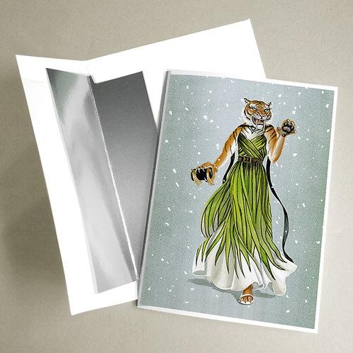Elie Saabertooth Tiger notecard