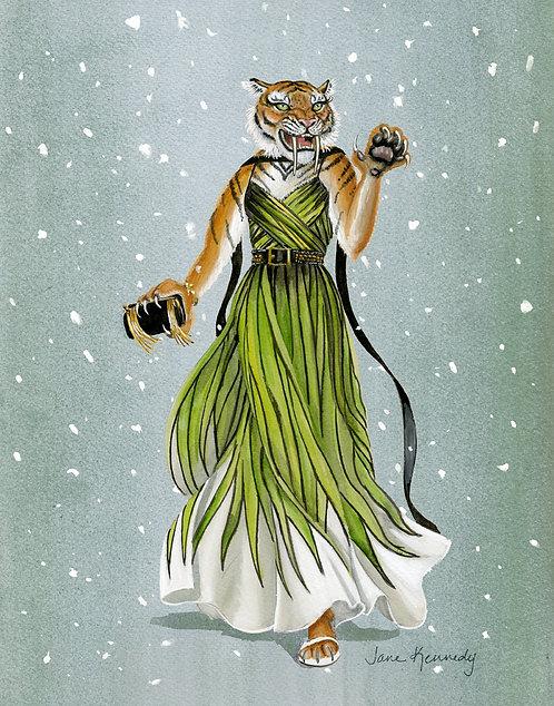 Elie Saabertooth Tiger giclée print