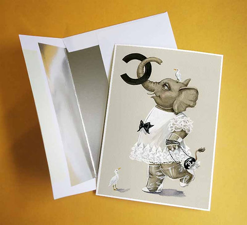 Chanelephant notecard