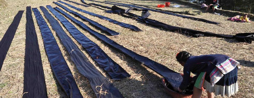 Sonnentrocken der Baumwollbahnen