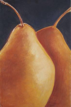 Two Orange Pears