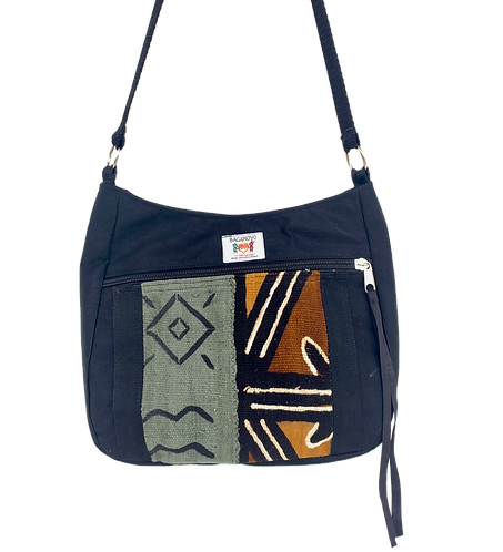 Mudcloth 1 Moon Crossbody Bag