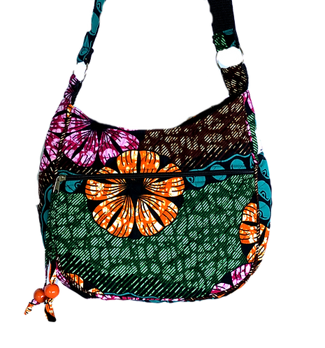 Kitenge 40 MoonShaped Bag