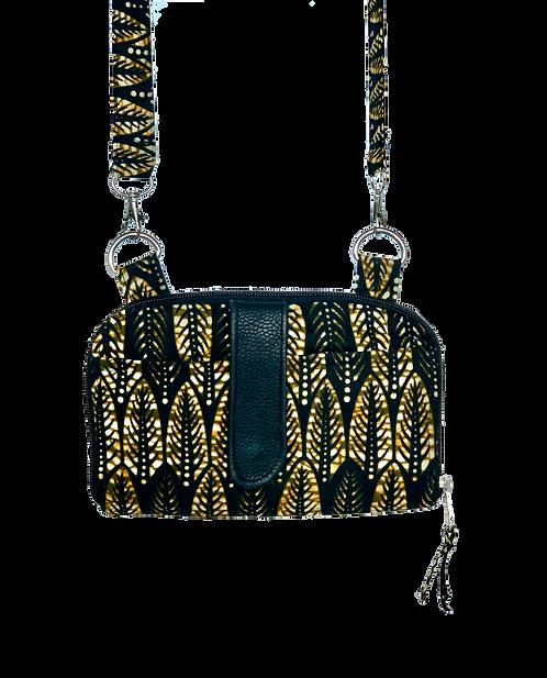 Kitenge13 Abby Bag w/leather
