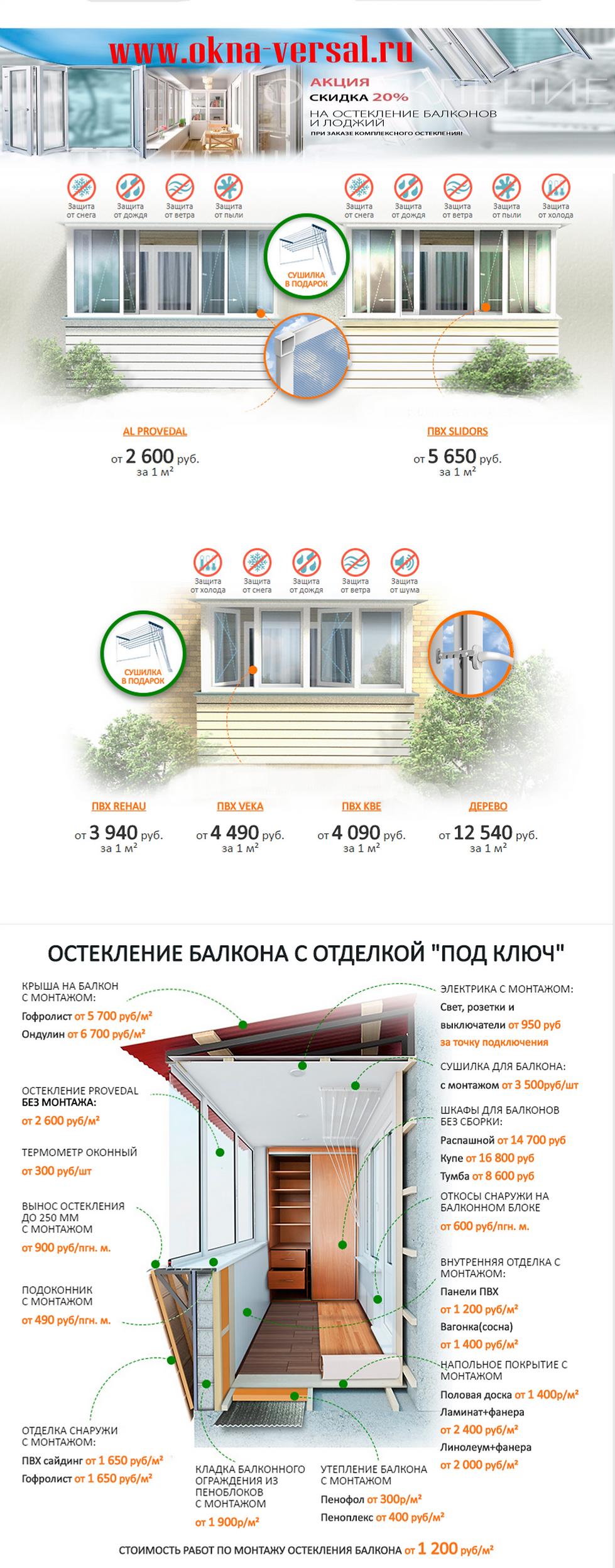 Остекления-Отделка балконов+Окна пвх