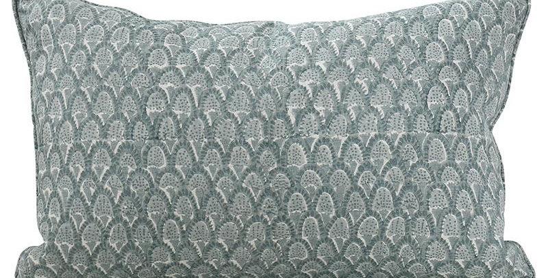 Scopello Celadon linen cushion 35x55cm (Chair Pillows)