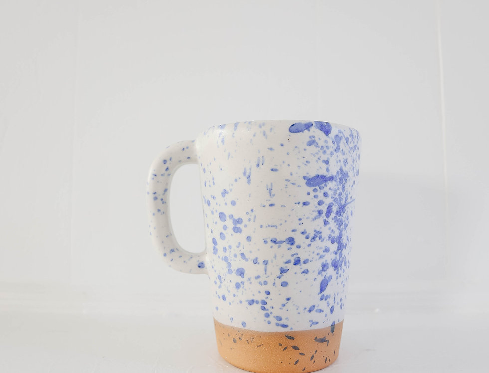 Blue Splatter Latte Mug
