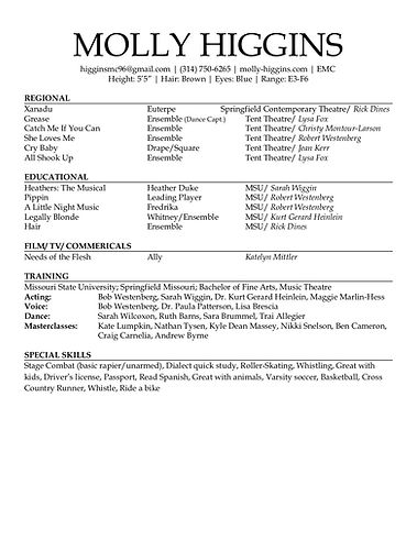 MSU Showcase Resume Molly Higgins copy.j