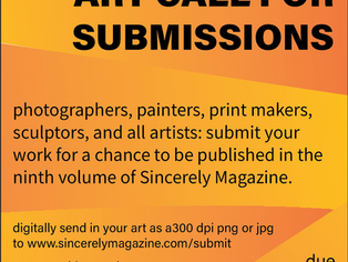 Volume Nine Art Call For Submissions