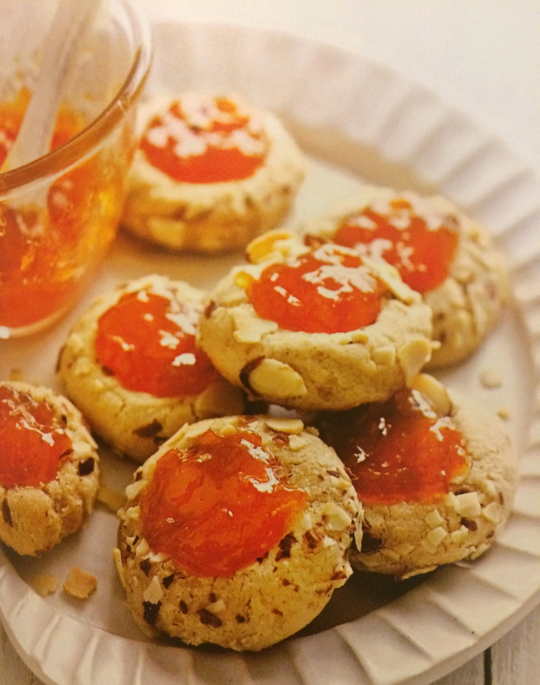 apricot almond thumbprint cookies