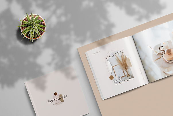 Candle Branding Collateral Mockup