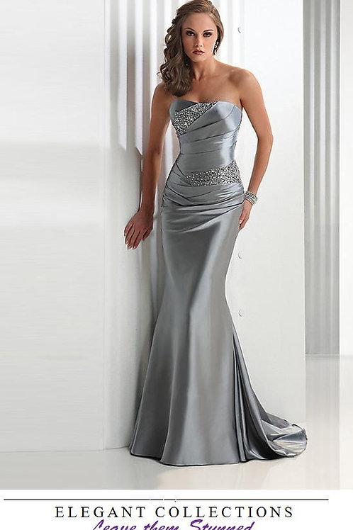 Mattieu Ethan Silver Sequins Mermaid Evening Gown