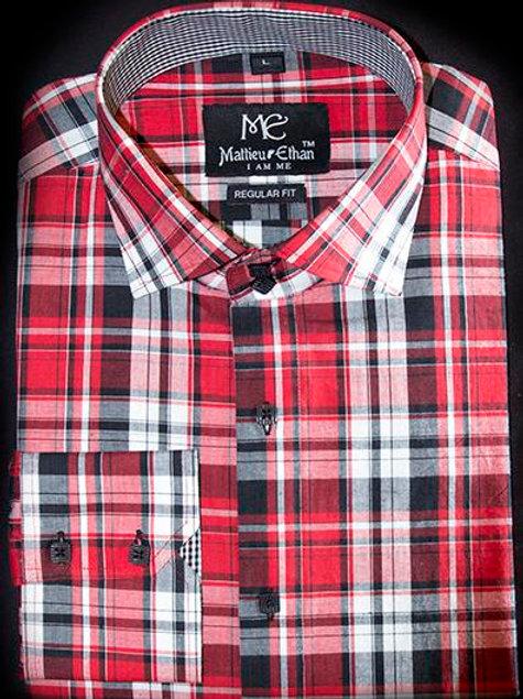 Mattieu Ethan Red Plaid Shirt