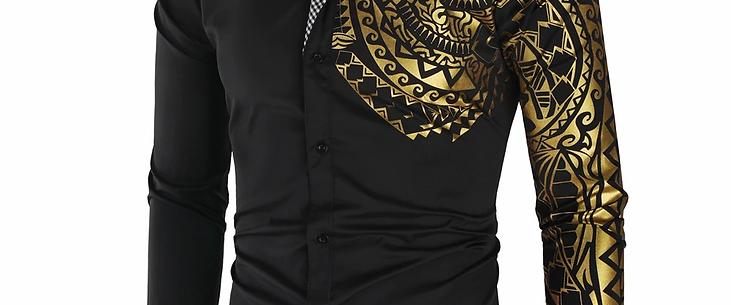 NEW Men Luxury Slim Fit Long Sleeve