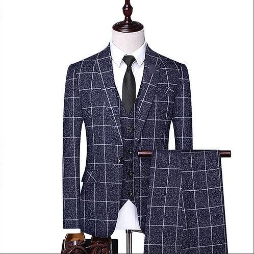 Men's Dress Three –Piece Business Suit-Jacket, Vest, Pants