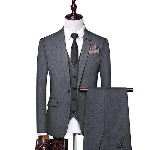 Men 3 Piece Suit Black , Men's 3 Piece Suit Grey