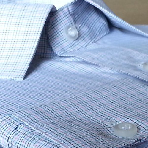 Mattieu Ethan Preppy Classic-Fit Checked Dress Shirt