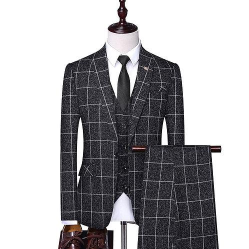 Men's Slim Fit Tuxedo Suit 3 Piece s Blazer, Vest, Pants Elegant Suit