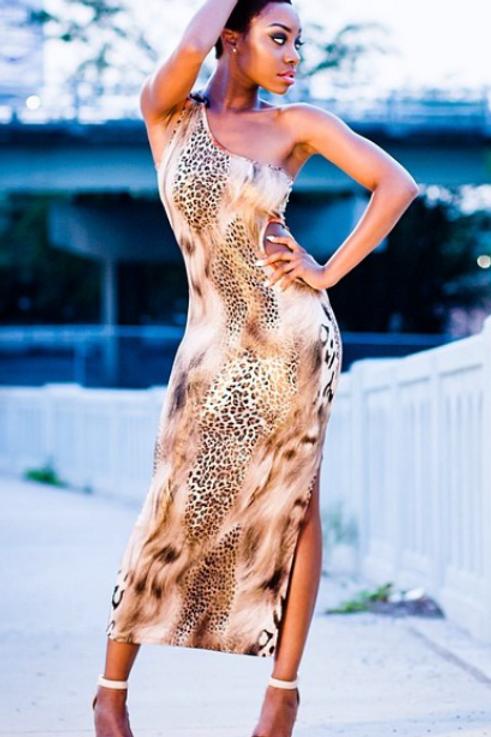 Mattieu Ethan Leopard print Cut-Out Dress