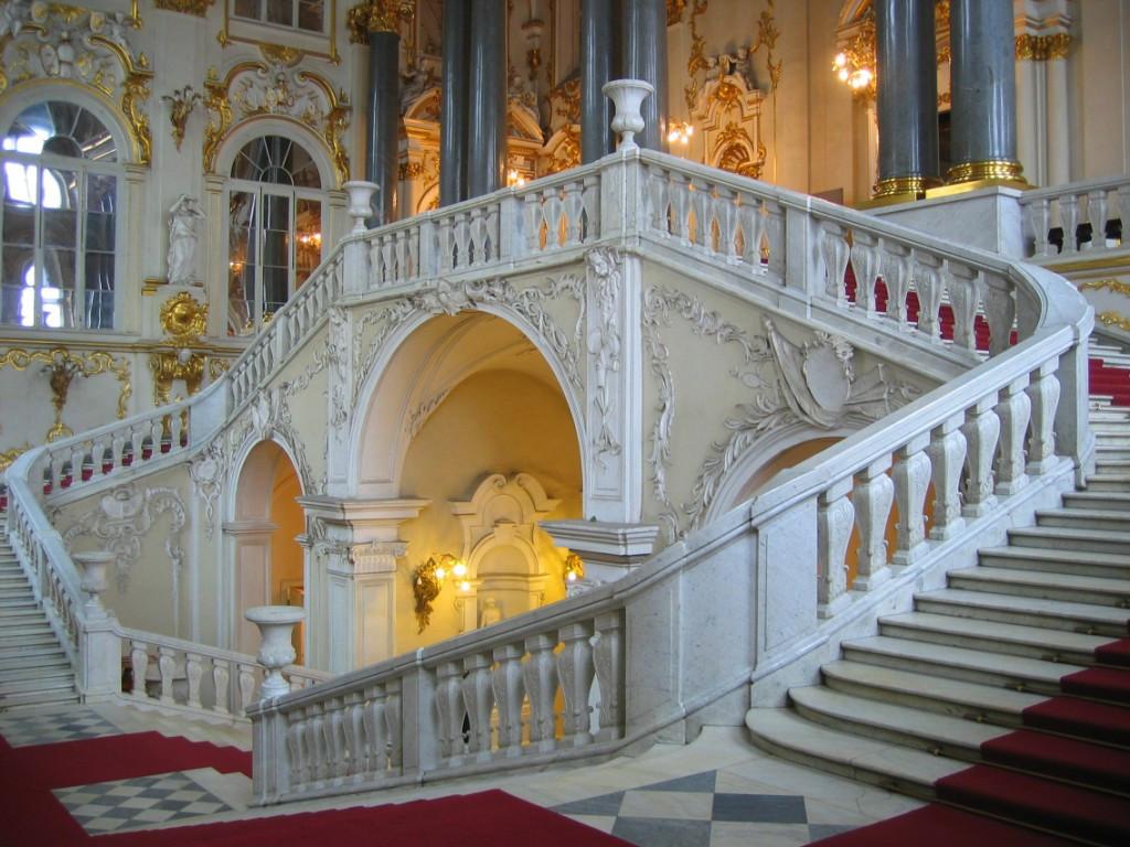 L'escalier du Jourdain, principal escalier de la partie nord du Palais d'Hiver