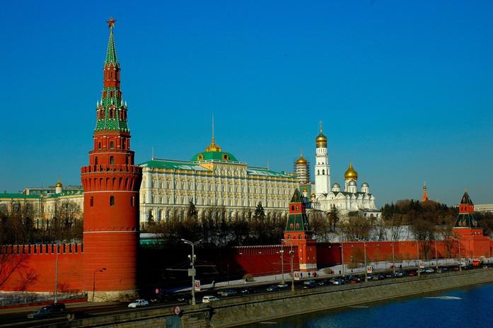 Vue sur le Kremlin de Moscou