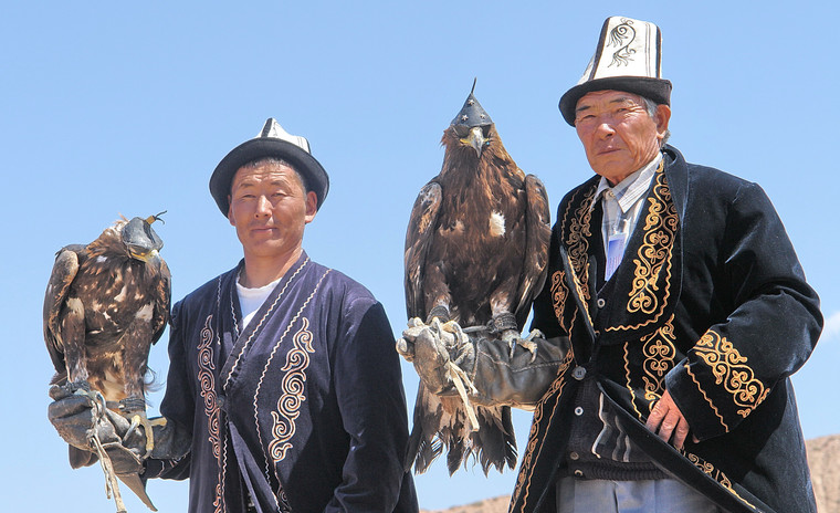 Chasseurs du village de Bokonbaevo