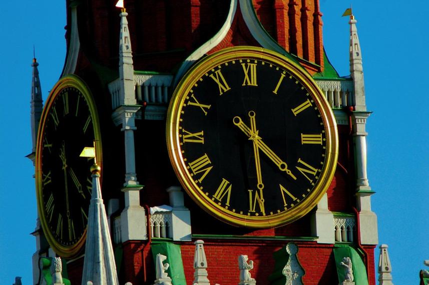 L'horloge de la tour Spasskaïa