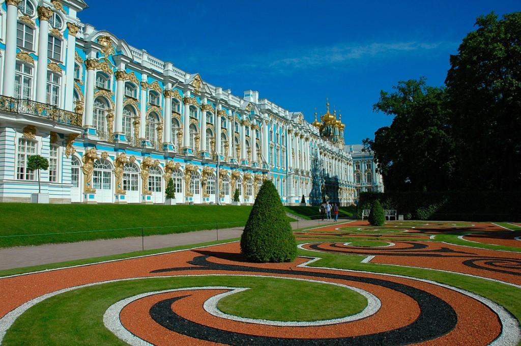 Le Palais Catherine à Tsarskoïe Selo (Pouchkine)