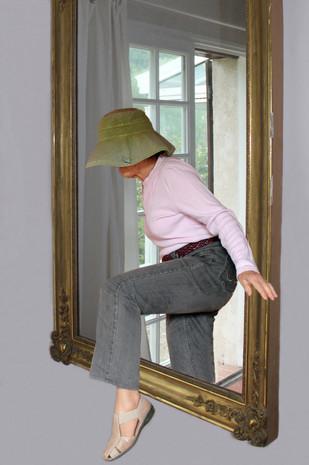 Sortie du miroir