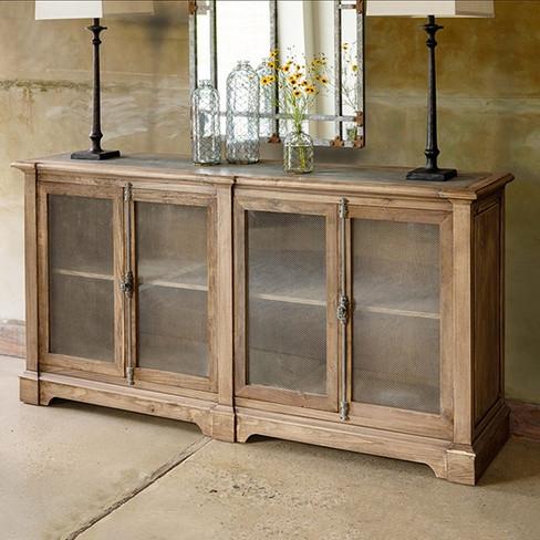 elm wood whiskey cabinet