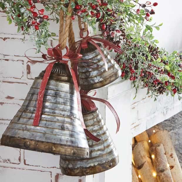 metal christmas bell decor